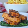 Teriyaki Tofu with Spinach by SweetNSpicyLiving.com