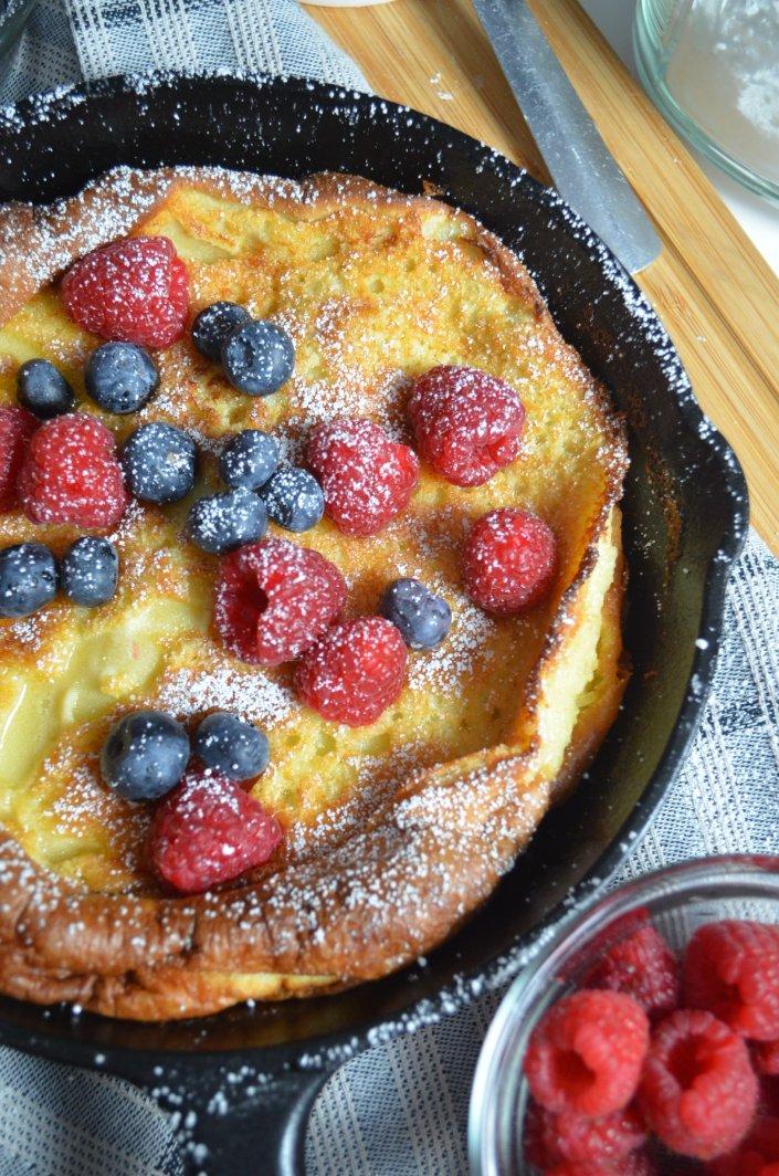 Vanilla Dutch Baby Pancakes By SweetnSpicyLiving.com