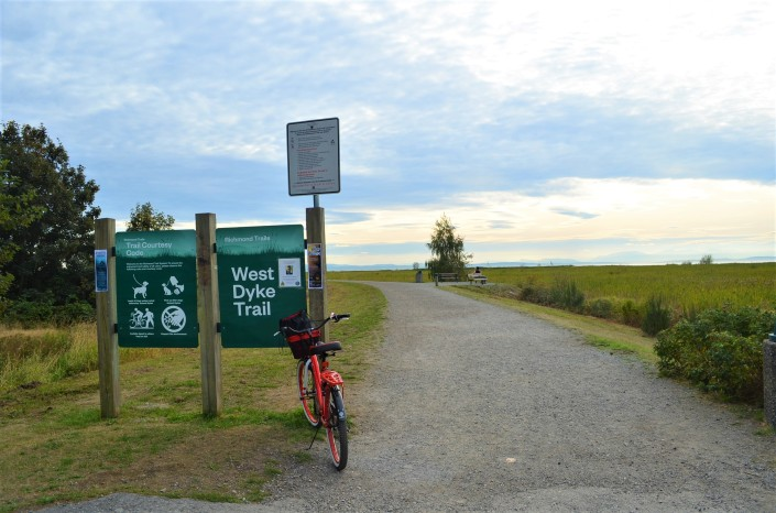 West Dyke Trail Starting Point Richmond BC