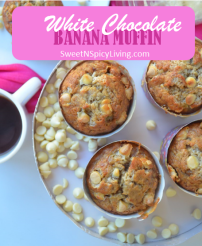 White Chocolate Banana Muffin