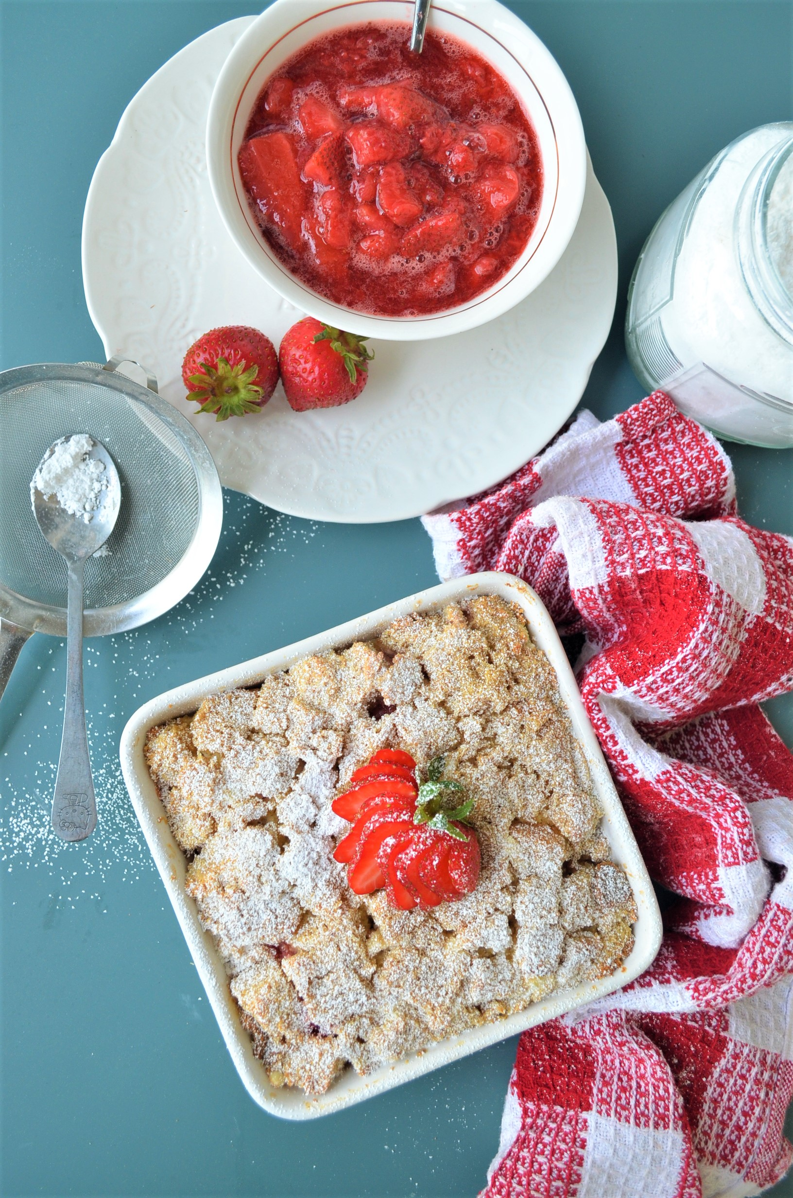 Baked Strawberry and Cream Overnight French Toast