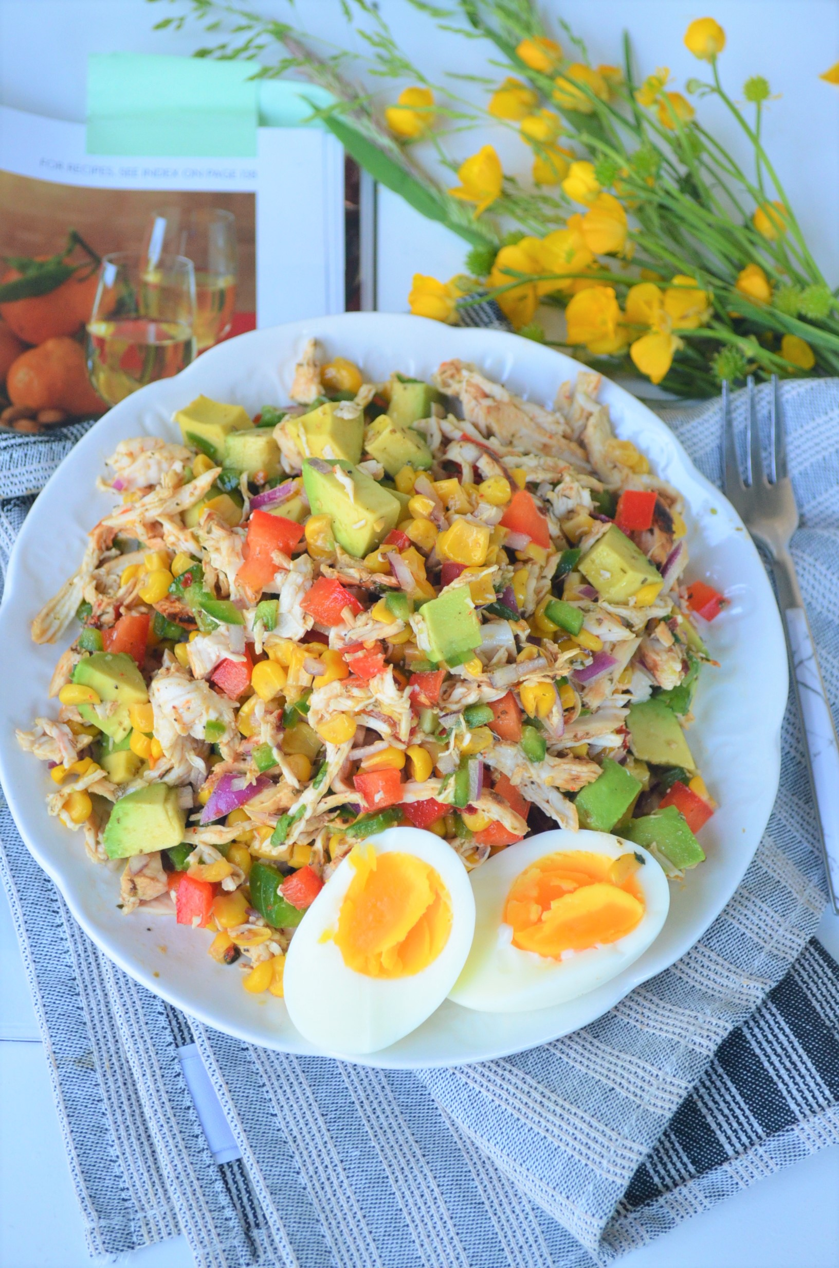 Chicken Avocado Salad By SweetNSPicyLiving.com