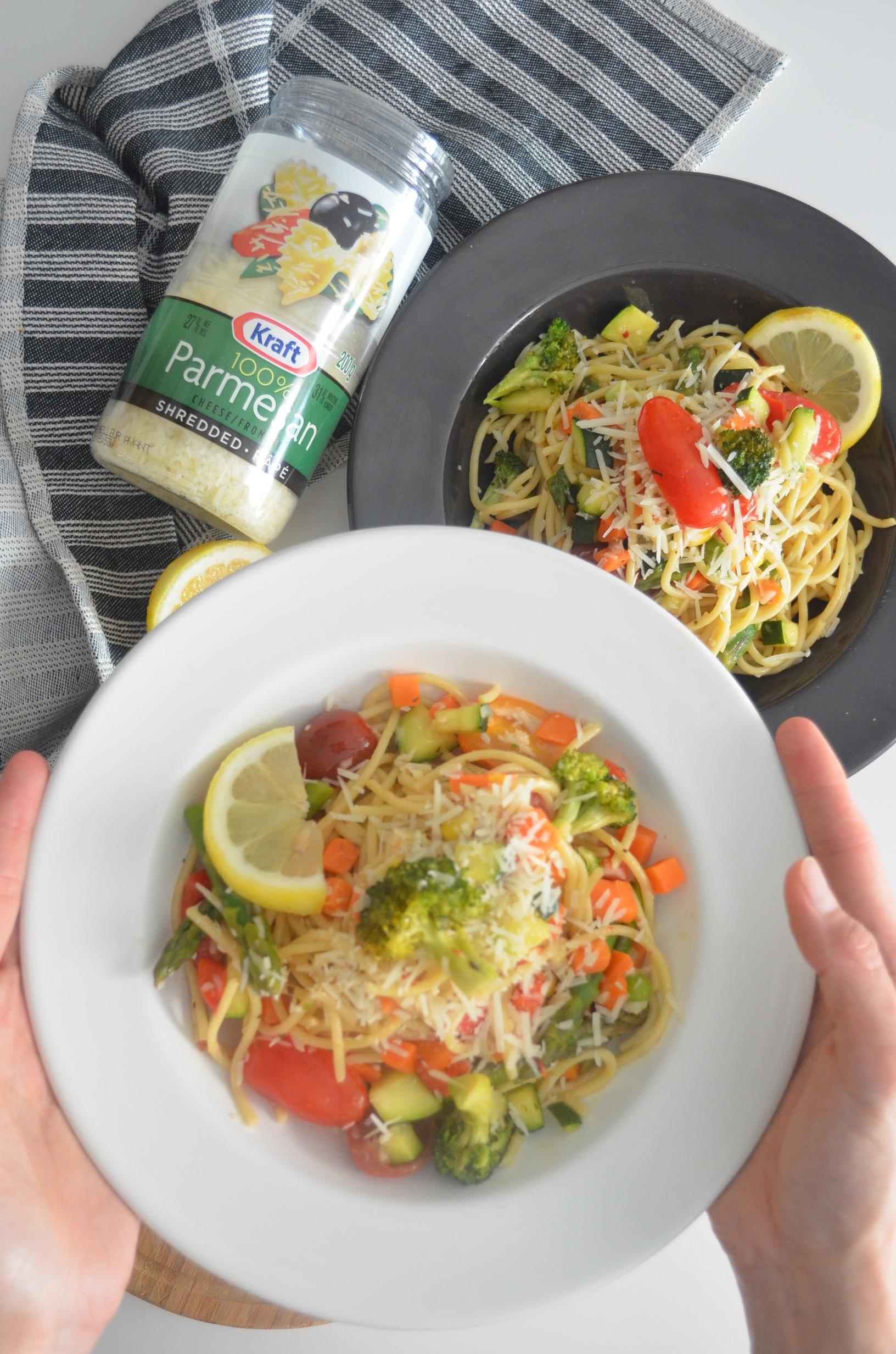 Garlic Butter Pasta Primavera Recipe By SweetNSpicyLiving.com