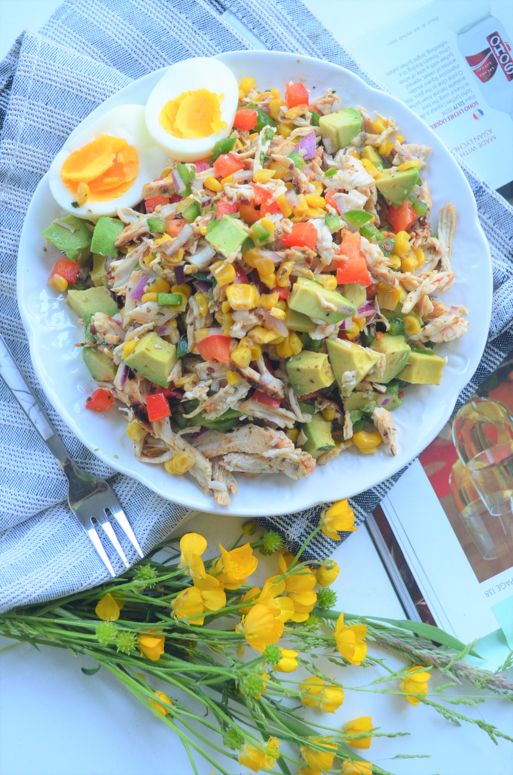 Grilled Chicken Avocado Salad By SweetNSpicyLiving.com