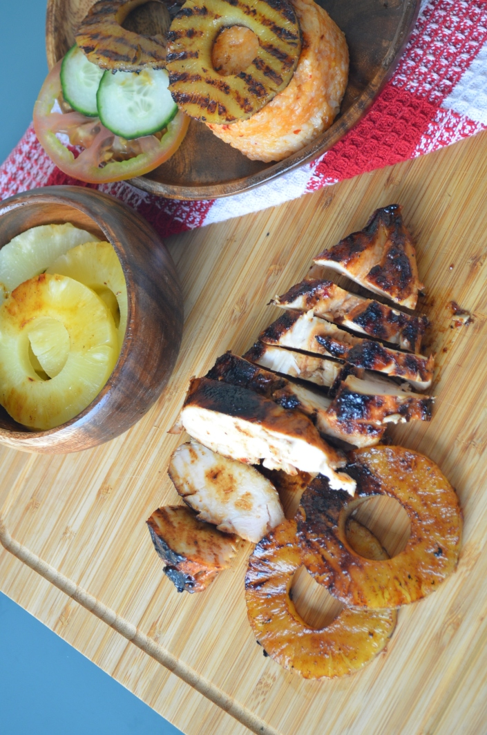 Grilled Hawaiian BBQ Chicken with Pineapple By SweetNSpicyLiving.com