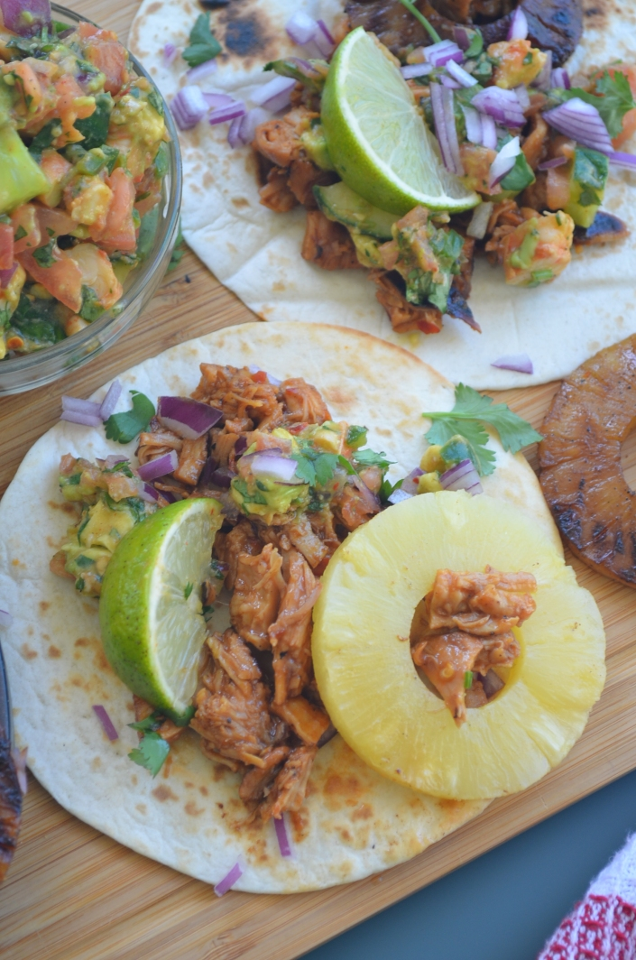 Hawaiin Chicken Tacos By SweetnSpicyLiving.com