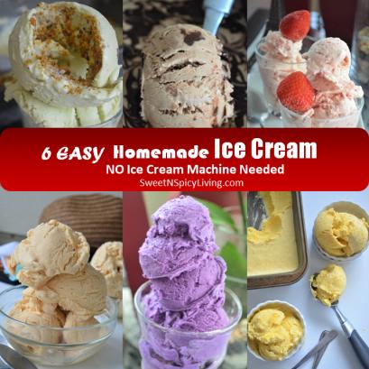 Homemade Ice Cream Collage