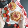 Homemade Strawberry Swirl Banana Muffin By SweetnSpicyLiving.com