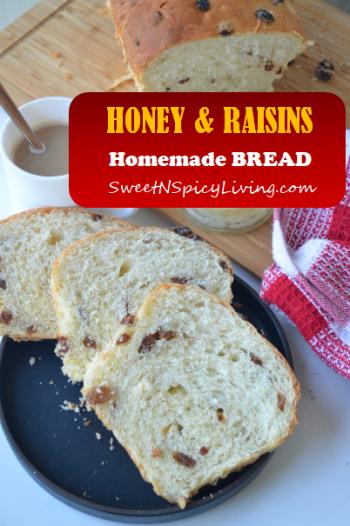 Honey Raisins Bread