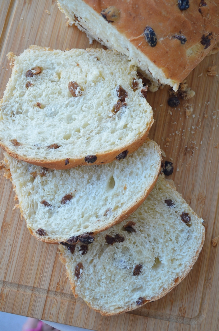 Honey Raisins Loaf Bread By SweetNSpicyLiving.com
