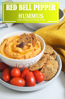 Roasted Bell Pepper Hummus 2