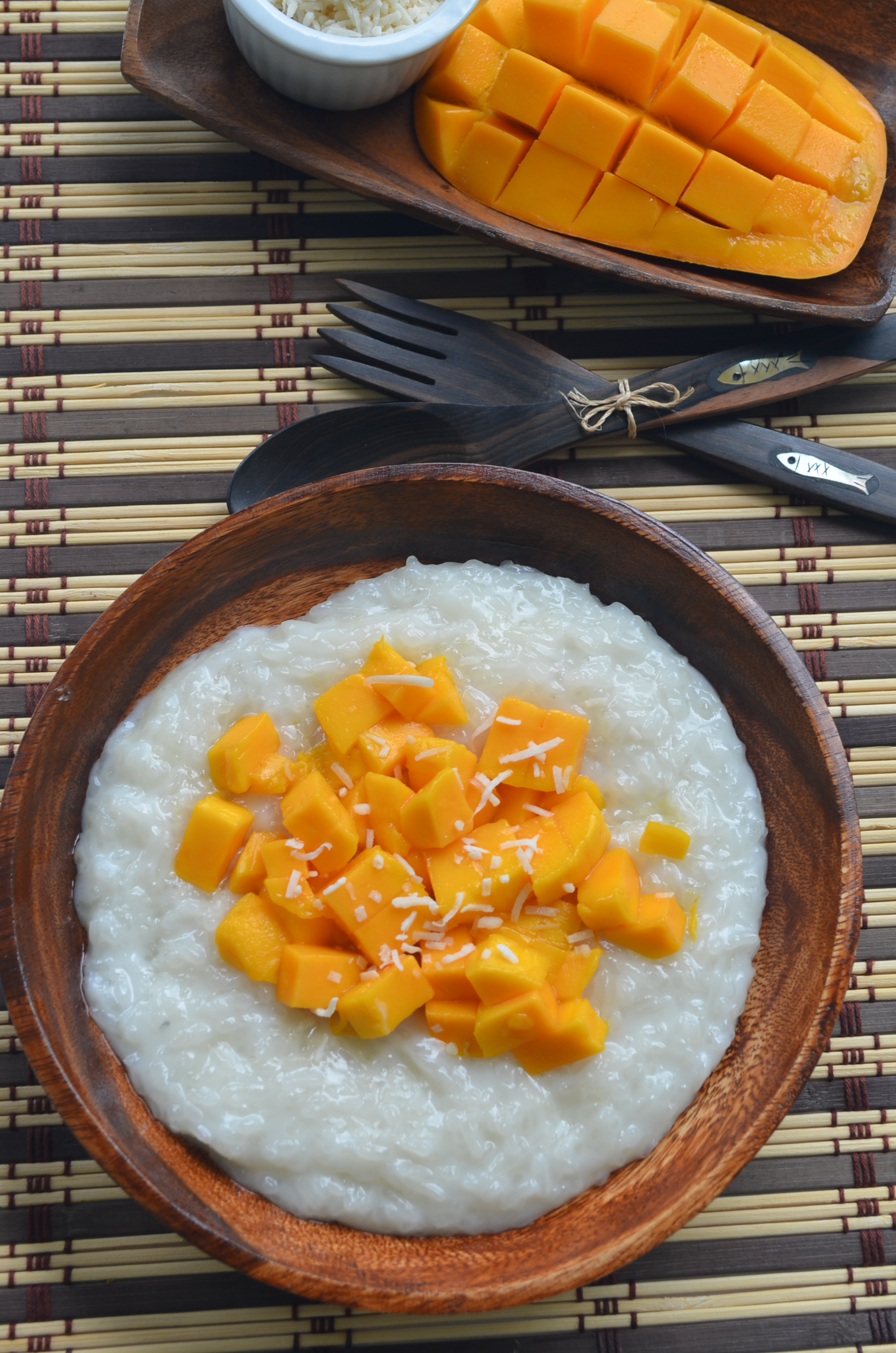 Small Batch Mango Sticky Rice Pudding