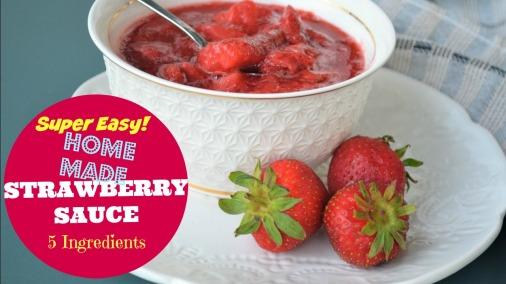 Strawberry Sauce YouTube Thumbnail