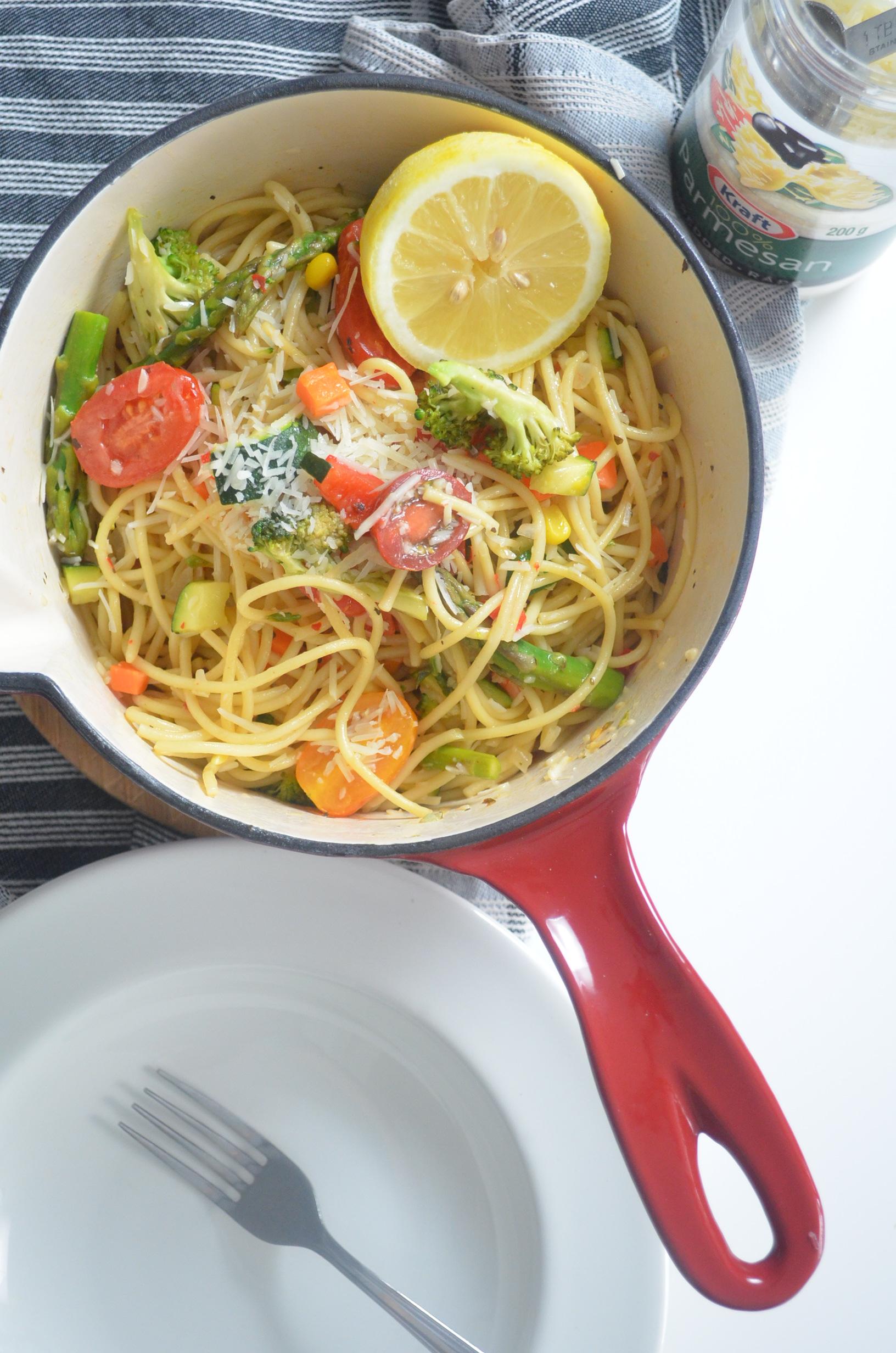 Vegetarian Pasta Primavera Recipe By SweetNSpicyLiving.com