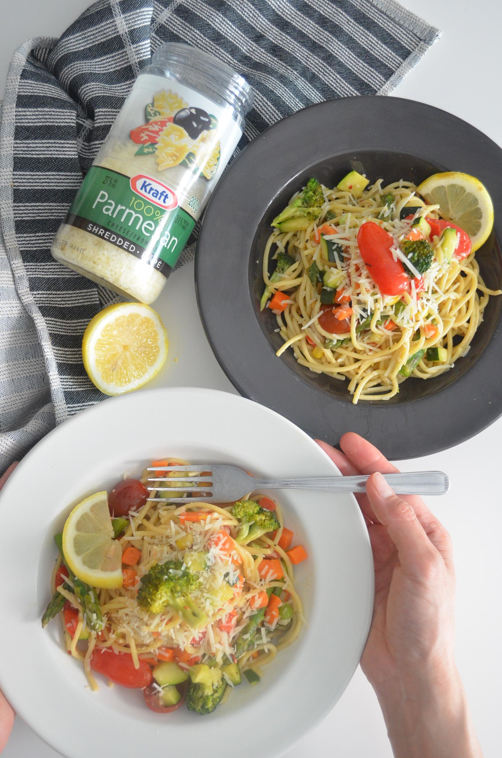 Vegetarian Spaghetti Pasta Primavera Recipe By SweetNSpicyLiving.com