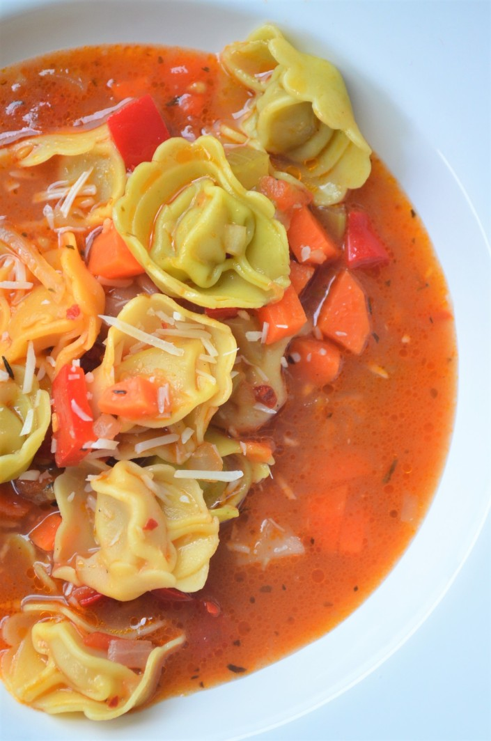 Vegetarian Tortellini Soup at SweetNSpicyLiving.com