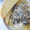 Creamy Mushroom Alfredo Spaghetti Squash