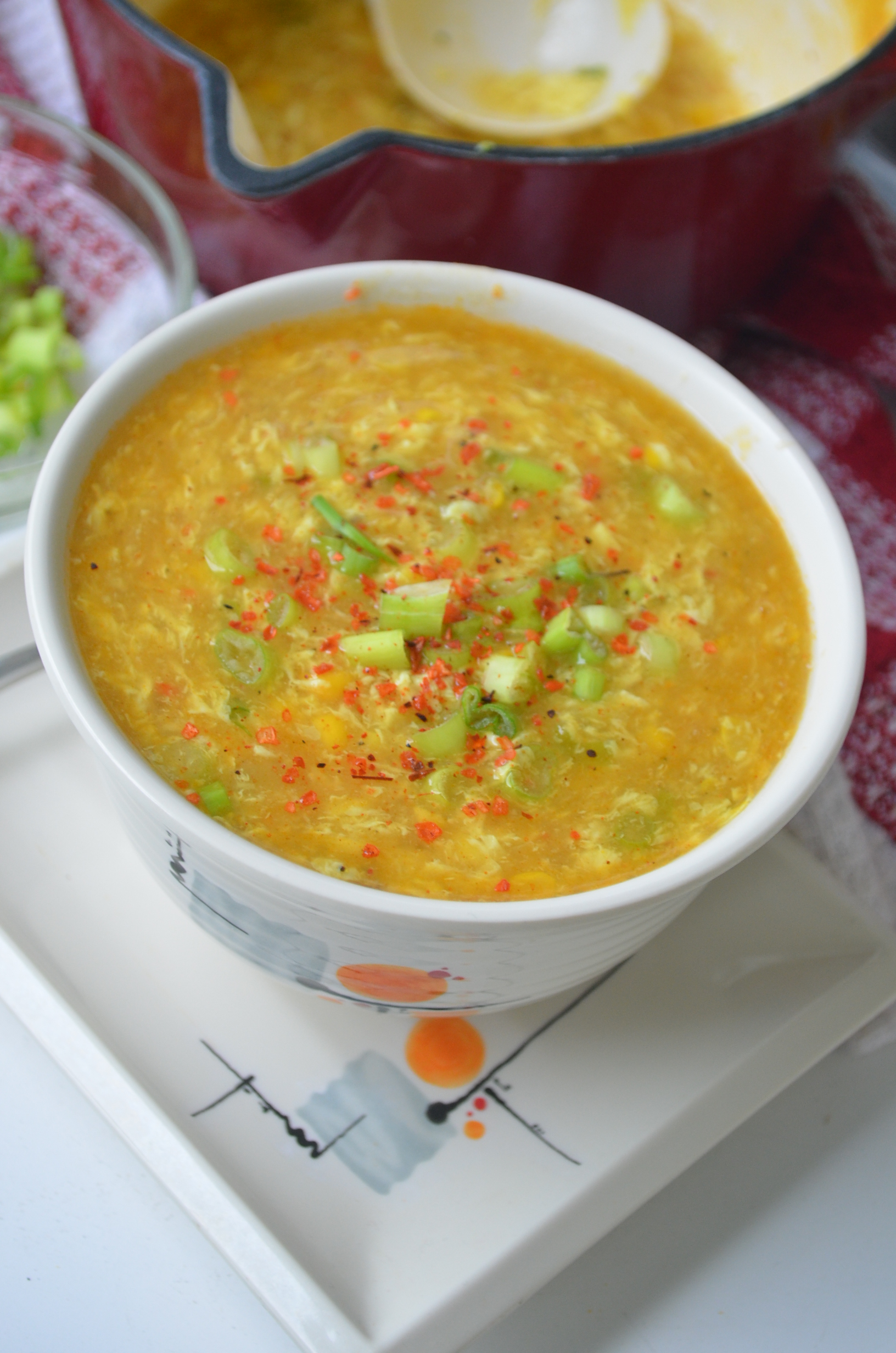 Easy Egg Drop Corn Soup