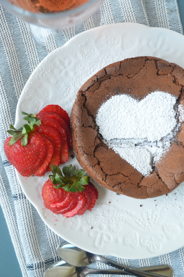 Flourless Chocolate Cake For Two