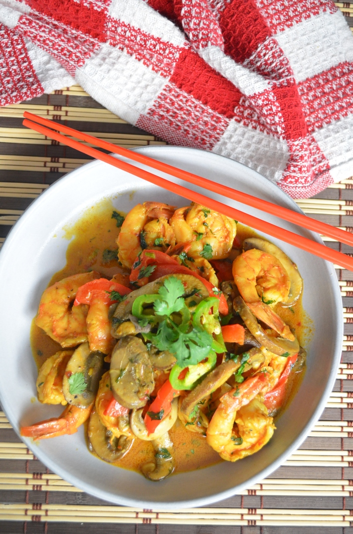 Mushroom and Shrimp in Coconut Sauce