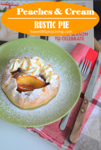 Peaches and Cream Rustic Pie