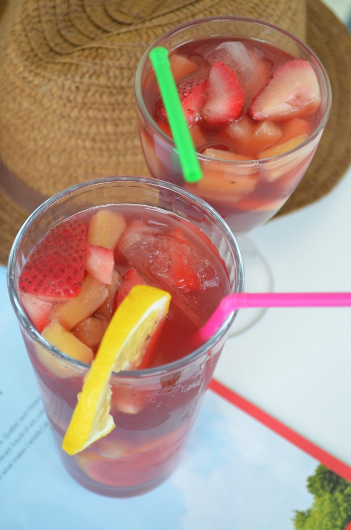 Pineapple Strawberry Ice Tea