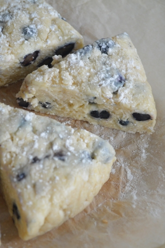 Small Batch Blueberry Streusel Scones By SweetNSpicyLiving.com