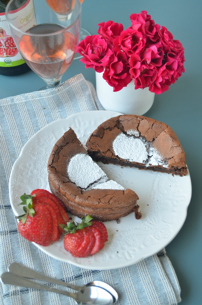 Small Batch Flourless Chocolate Cake