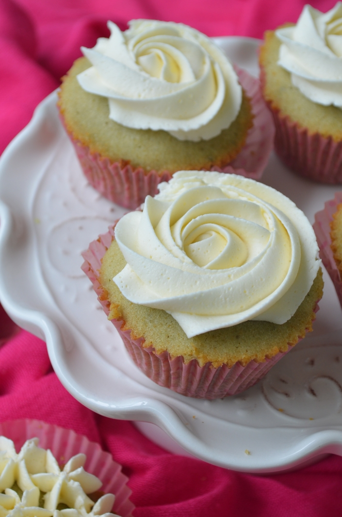Small Batch Matcha Cupcakes with Vanilla Buttercream Frosting