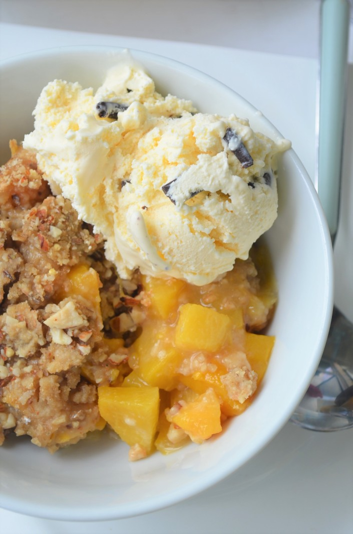 Small Batch Peach and Mango Crisp