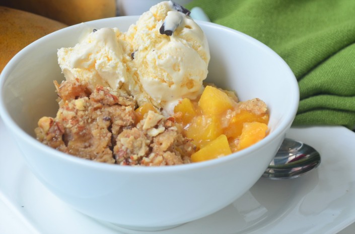 Small Batch Peach and Mango Crumble