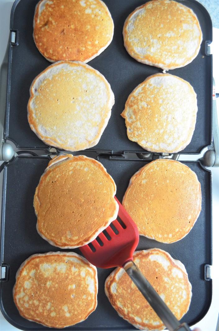 Small Batch Strawberry Pancakes
