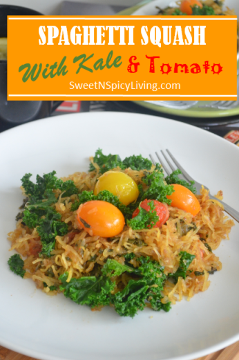 Spaghetti Squash with Kale and Tomato