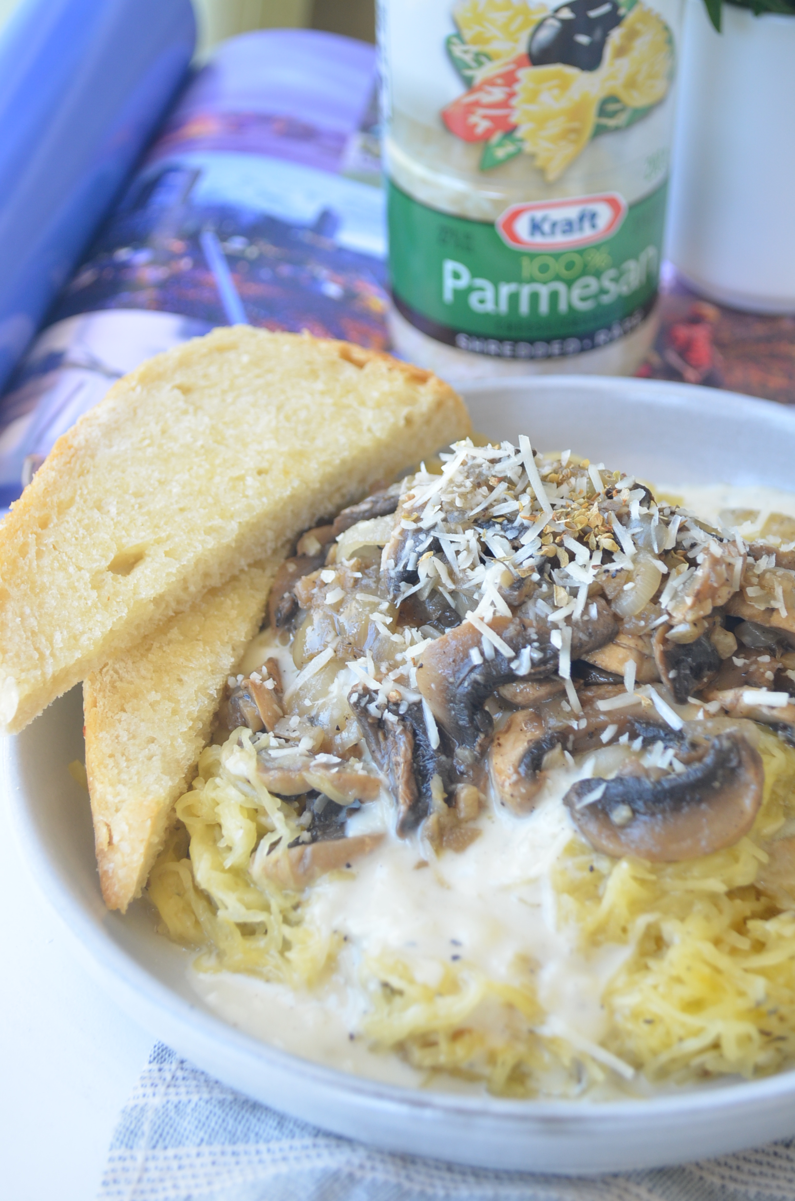 Spaghetti Squash with Mushrooms by SwetNSPicyLiving.com