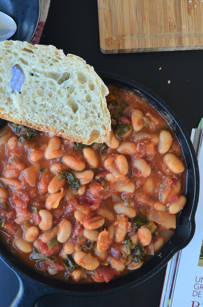 Spanish Beans with Spinach
