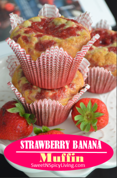 Strawberry Banana Muffins 3