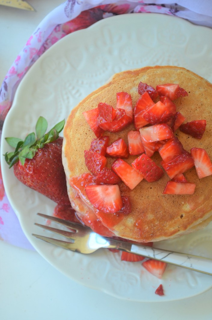 Strawberry Pancakes By SweetNSpicyLiving