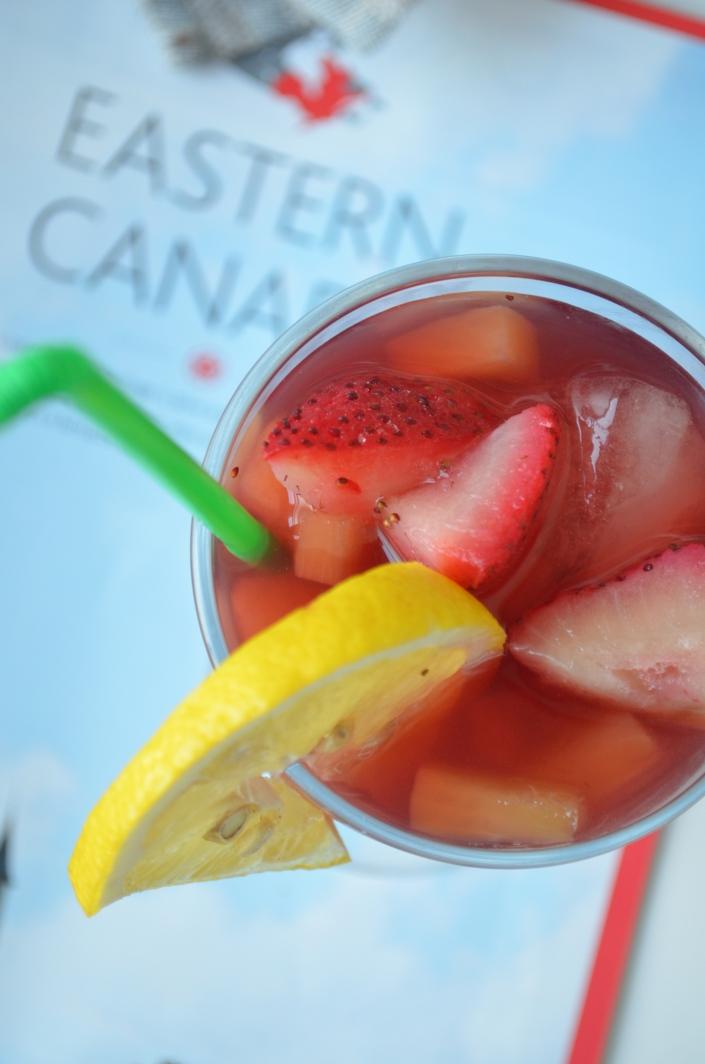 Strawberry Pineapple Ice Tea Cooler