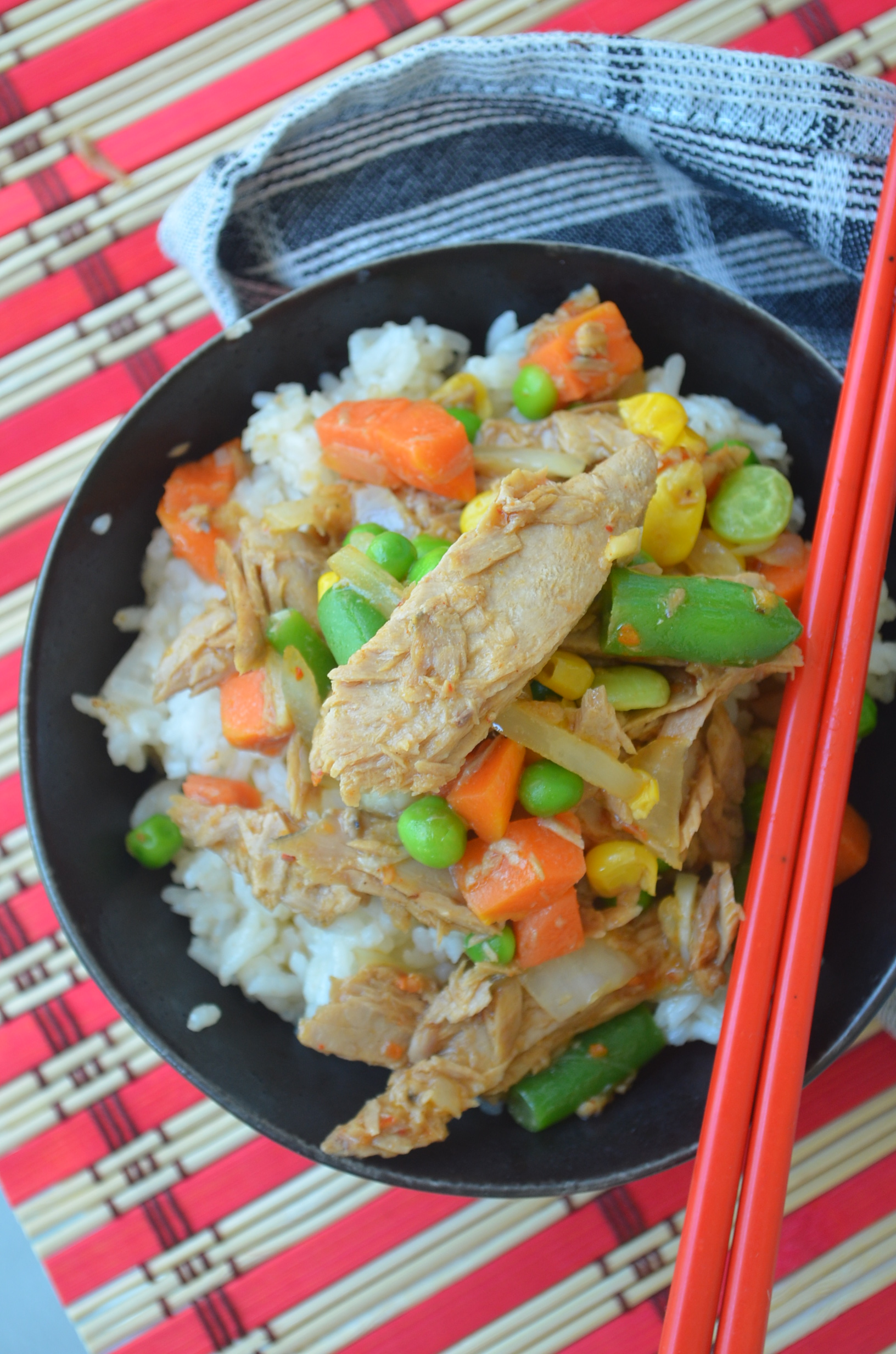 Tuna Rice and Vegetable Bowl