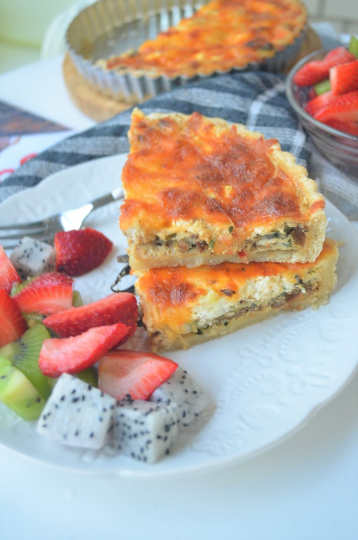 Vegetarian Quiche By SweetnSpicLiving.com
