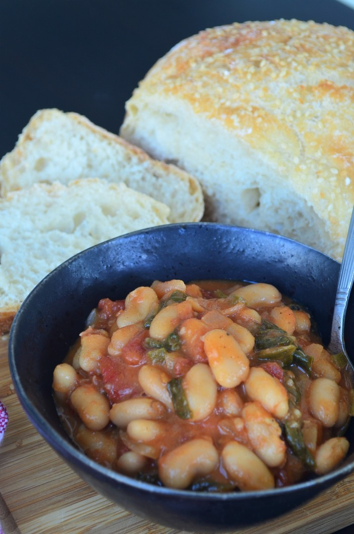 Vegetarian White Beans and Spinach Stew