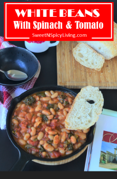 White Beans with Spinach and Tomato 2