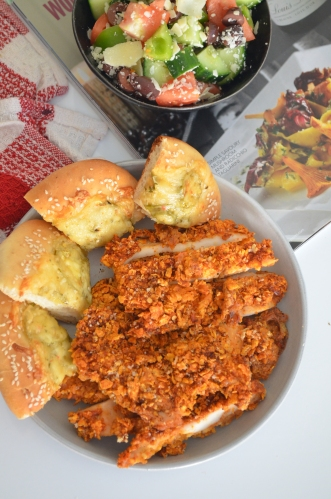 Baked Doritos Crusted Chicken Fingers Recipe By SweetNSpicyLiving.com