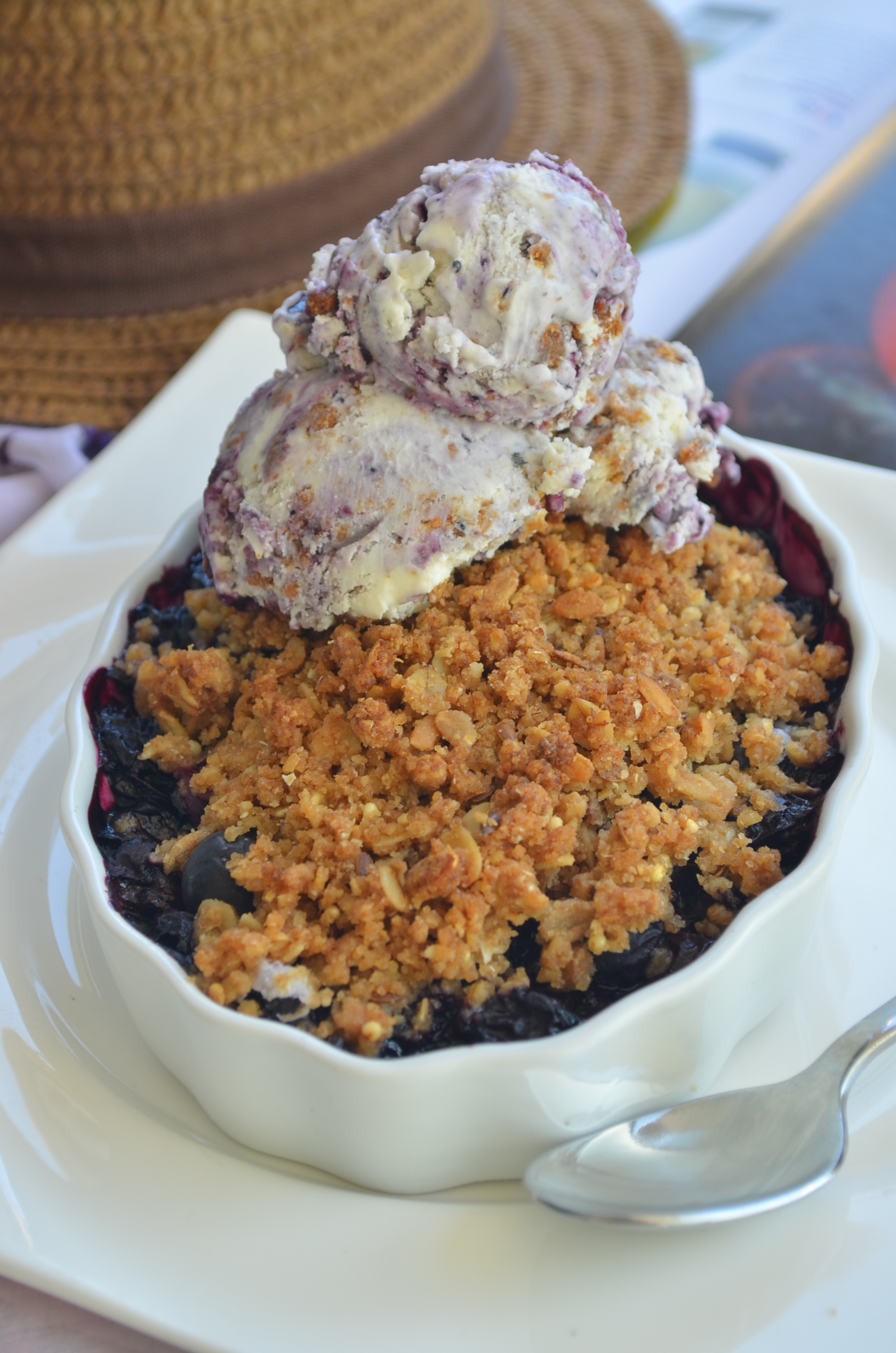 Blueberry Crumble For Two