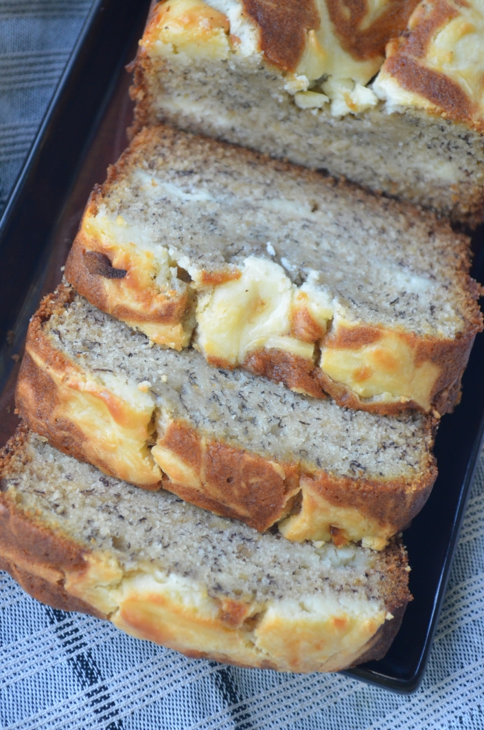 Cream Cheese Filled Banana Bread By SweetNSpicyLiving