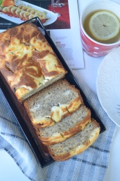 Cream Cheese Swirl Banana Bread By SweetNSpicyLiving