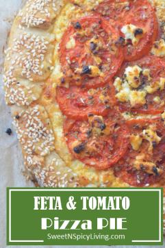 Feta and Tomato Pizza Pie