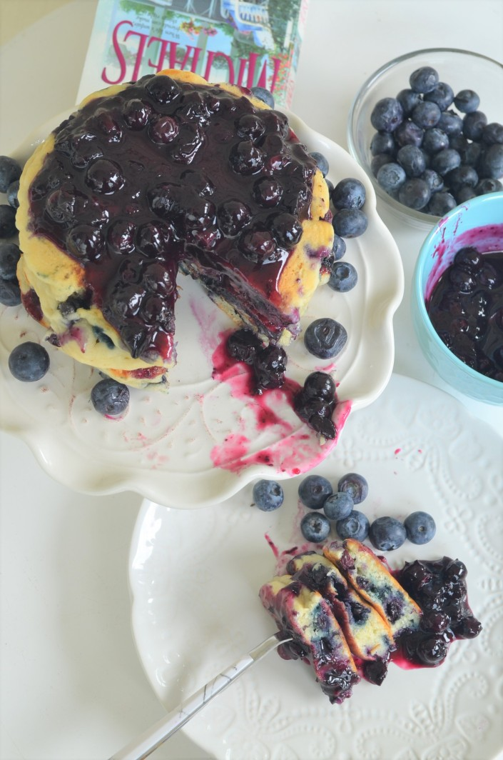 Fluffy Blueberry Pancakes By SweetNSpicyLiving.com