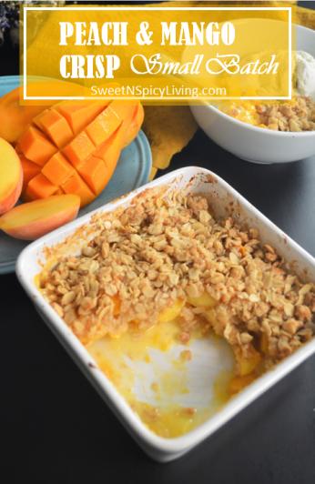 Peach and Mango Crisp 4