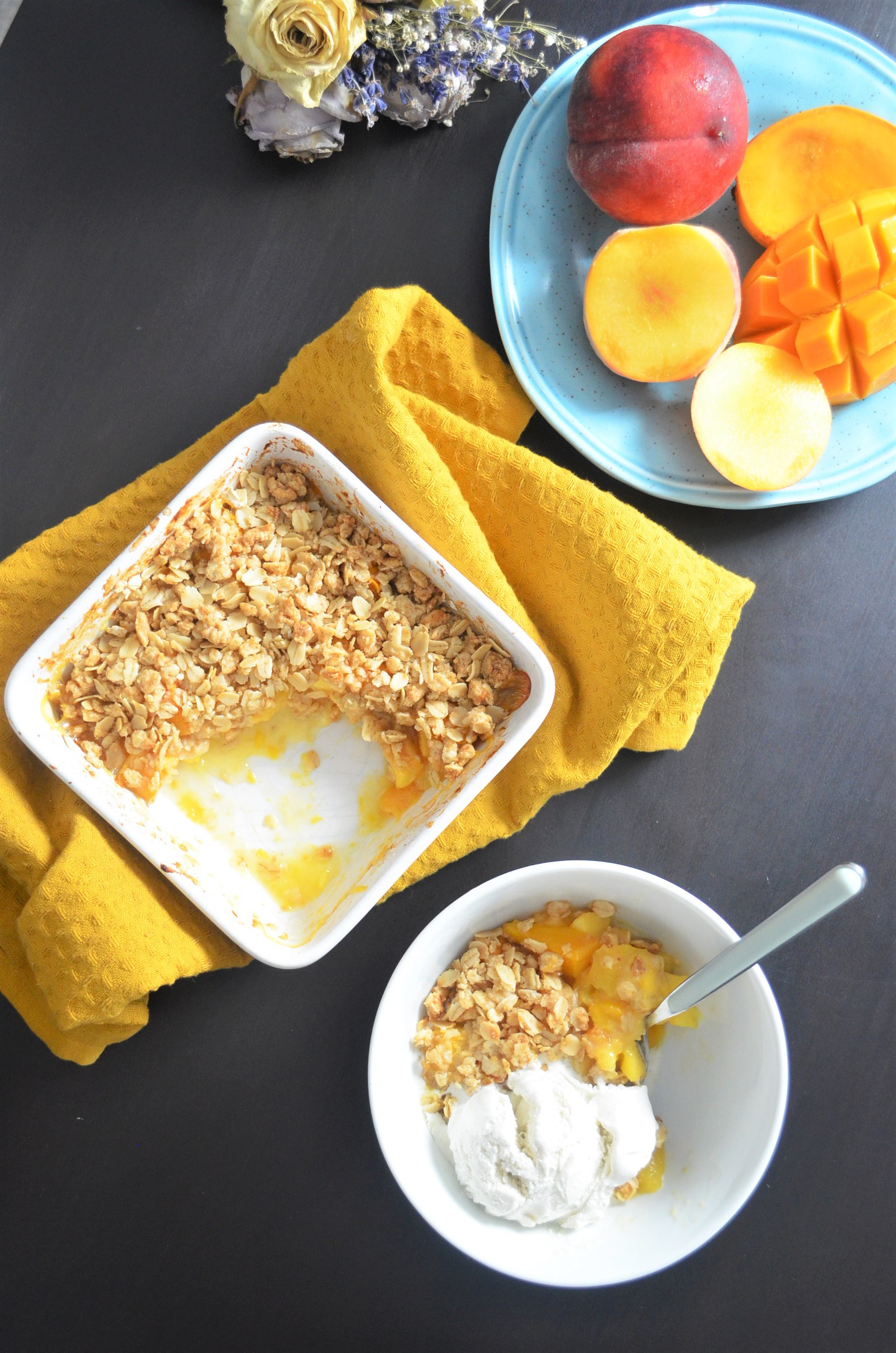 Peach and Mango Crisp